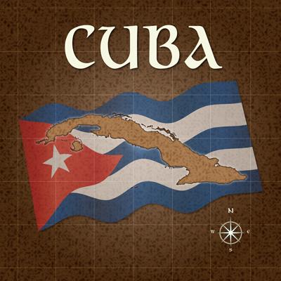 Cuba Old Map