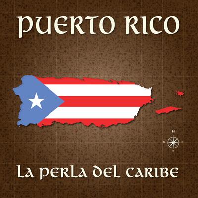 Puerto Rico Flag Map