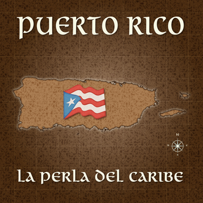 Puerto Rico Old Map