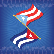 P.R. and Cuba Flags Combo